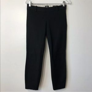 "J. CREW Stretch ""MINNIE"" Black Pant. Size 00"